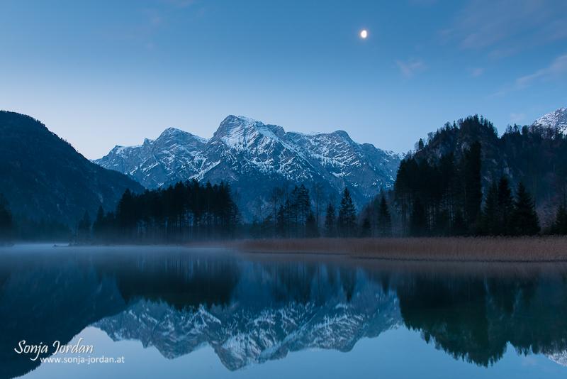 Mondlicht über Almsee