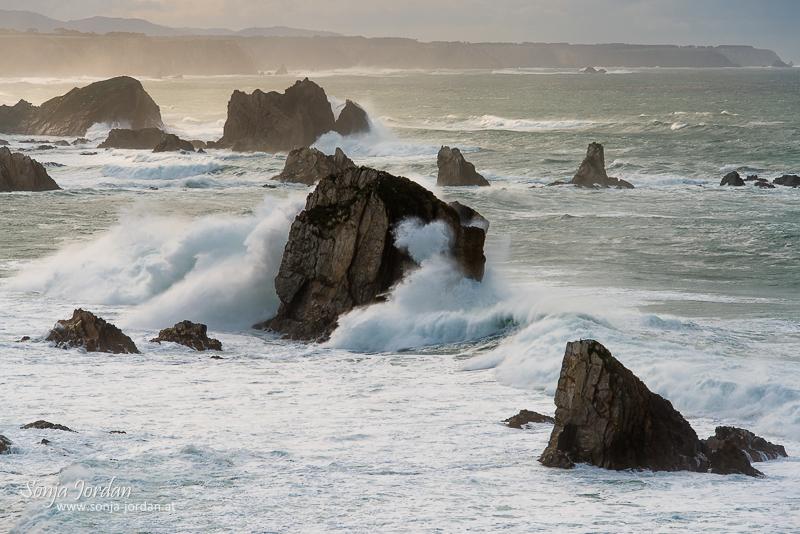 Playa del Silencio, Golf von Biskaya, Provinz Asturien, Spanien