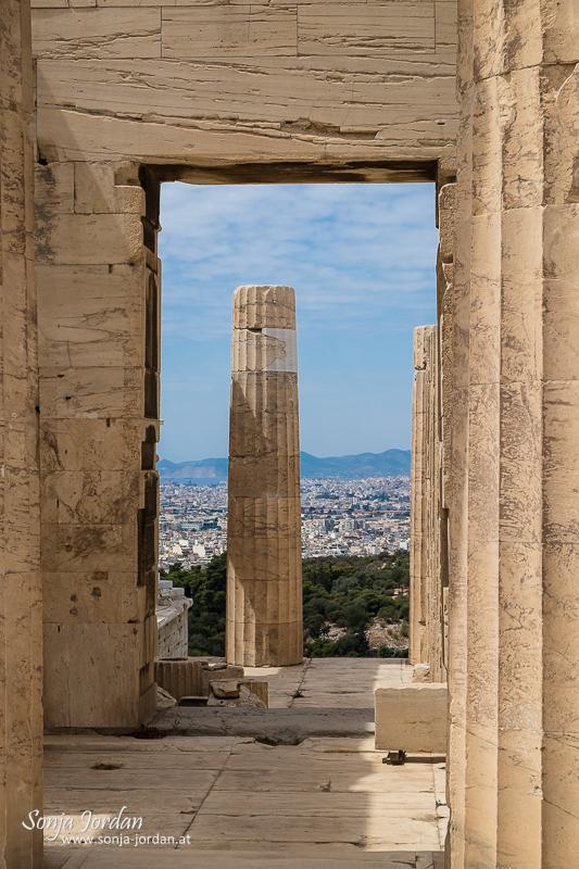 Propyläen, Akropolis, Athen, Griechenland,