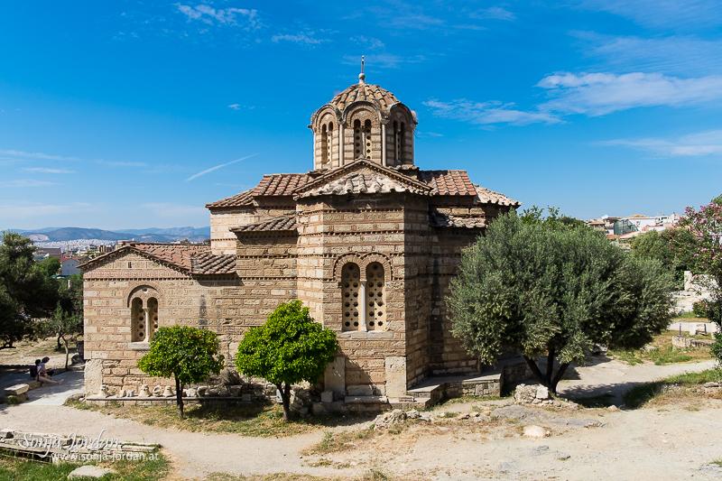 Byzantinische griechisch-orthodoxe Kirche, antike Agora, Athen, Griechenland