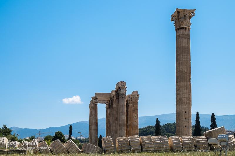 Tempel des olympischen Zeus, Olympieion, Athen, Griechenland,