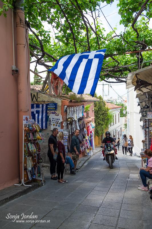 Viertel Anafiotika unterhalb der Akropolis, Altstadt Plaka, Athen, Griechenland