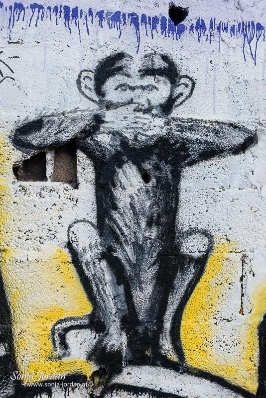 Graffiti, San Andres, Santa Cruz de Tenerife, Teneriffa, Kanarische Inseln, Spanien
