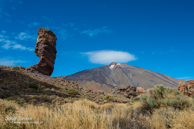 Roque Cinchado, Finger Gottes, Steinerner Baum, Roques de Garcia, Nationalpark Teide, Kanarische Inseln, Teneriffa, Spanien