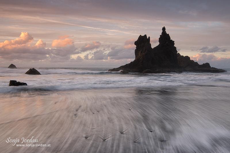 Playa de Benijo, Taganana, Anaga-Gebirge, Kanarische Insel, Teneriffa, Spanien