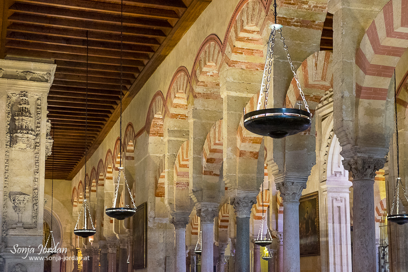 Cathedral–Mosque of Cordoba, Mezquita, interior view, Cordoba, Andalusia, Spain