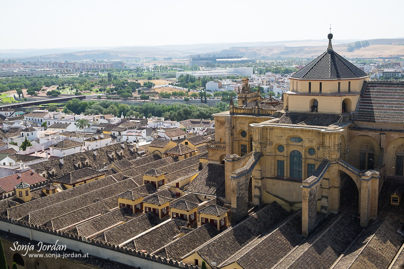 View from bell tower, Cathedral–Mosque of Cordoba, Mezquita, Cordoba, Andalusia, Spain