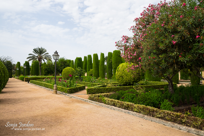 Alcázar de los Reyes Cristianos, The gardens of the Alcazar of Catholic Kings, Cordoba. Andalusia, Spain
