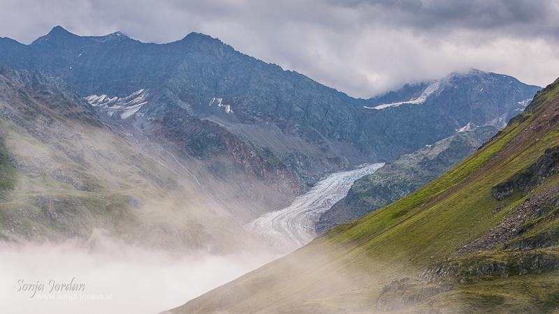 Gespatschgletscher, Kaunertal, Kaunertaler Gletscherstraße, Panoramastraße, Tirol, Österreich