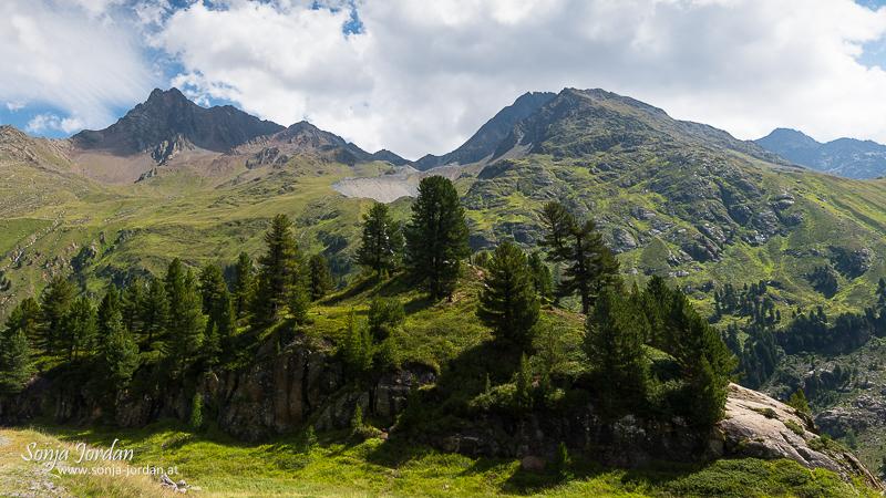 Kaunertal, Ölgrupenspitzen im Hintergrund, Kaunertaler Gletscherstraße, Panoramastraße, Tirol, Österreich
