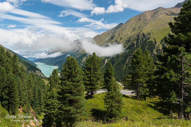 Kaunertal, Blick auf Stausee, Kaunertaler Gletscherstraße, Panoramastraße, Tirol, Österreich
