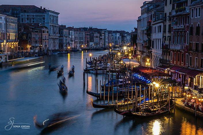 Abendstimmung an der Rialtobrücke/Venedig
