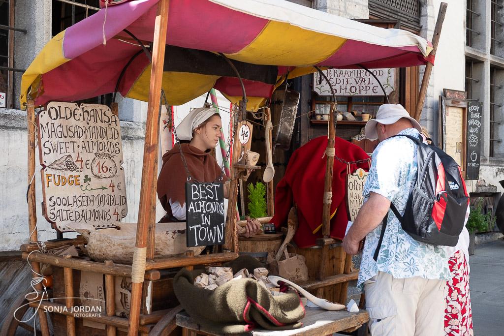 Mittelalterlicher Verkaufsstand