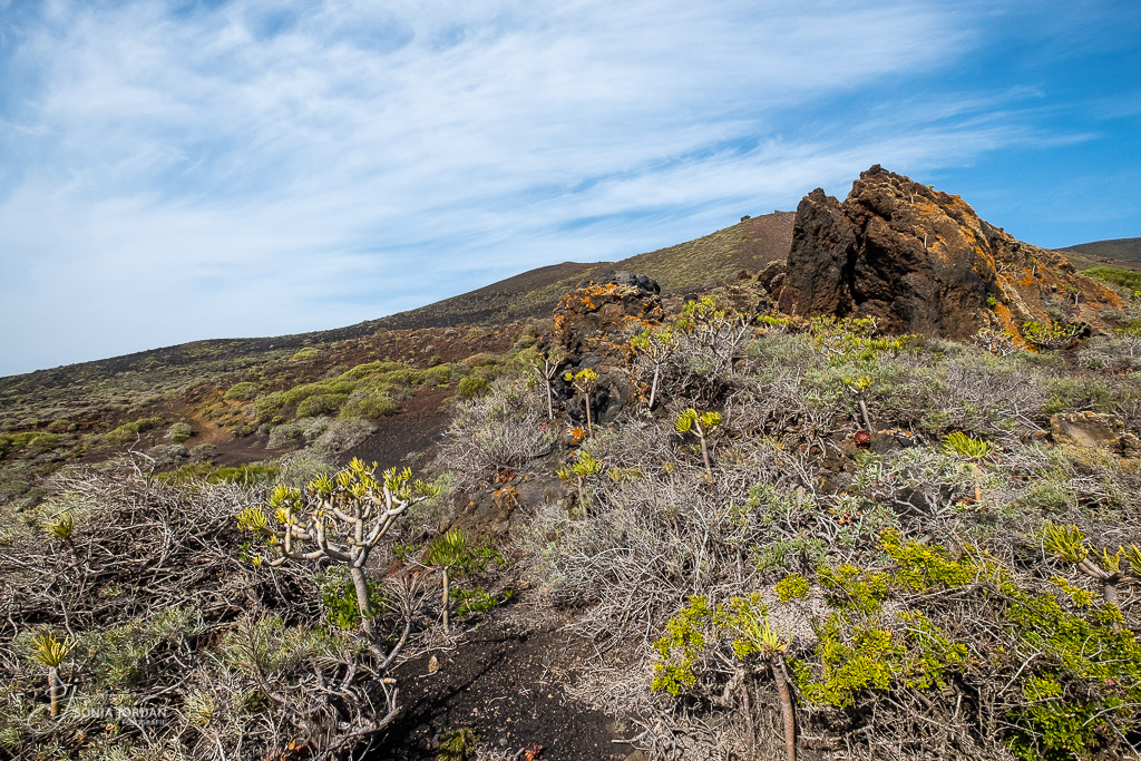 Vulkanlandschaft im Süden von La Palma