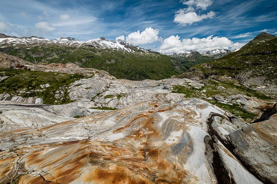 Faszinierender Gletscherschliff