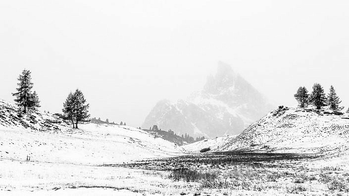 Winterlandschaft in den Dolomiten